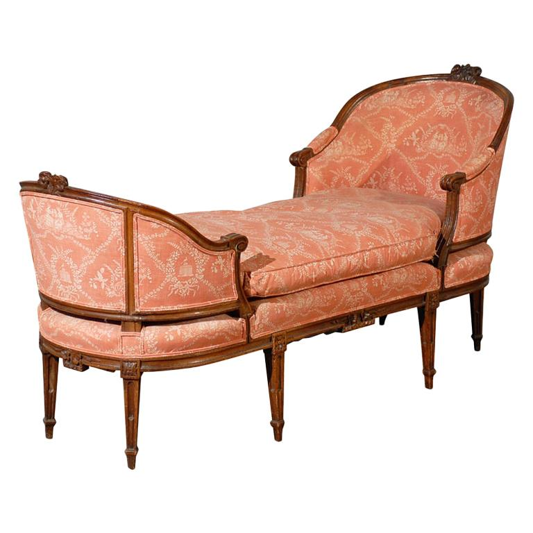 18th 19th Century French Louis Xvi Chaise Lounge Signed Pillot In 2020 Chaise Lounge Upholstered Chaise Lounge Upholstered Chaise