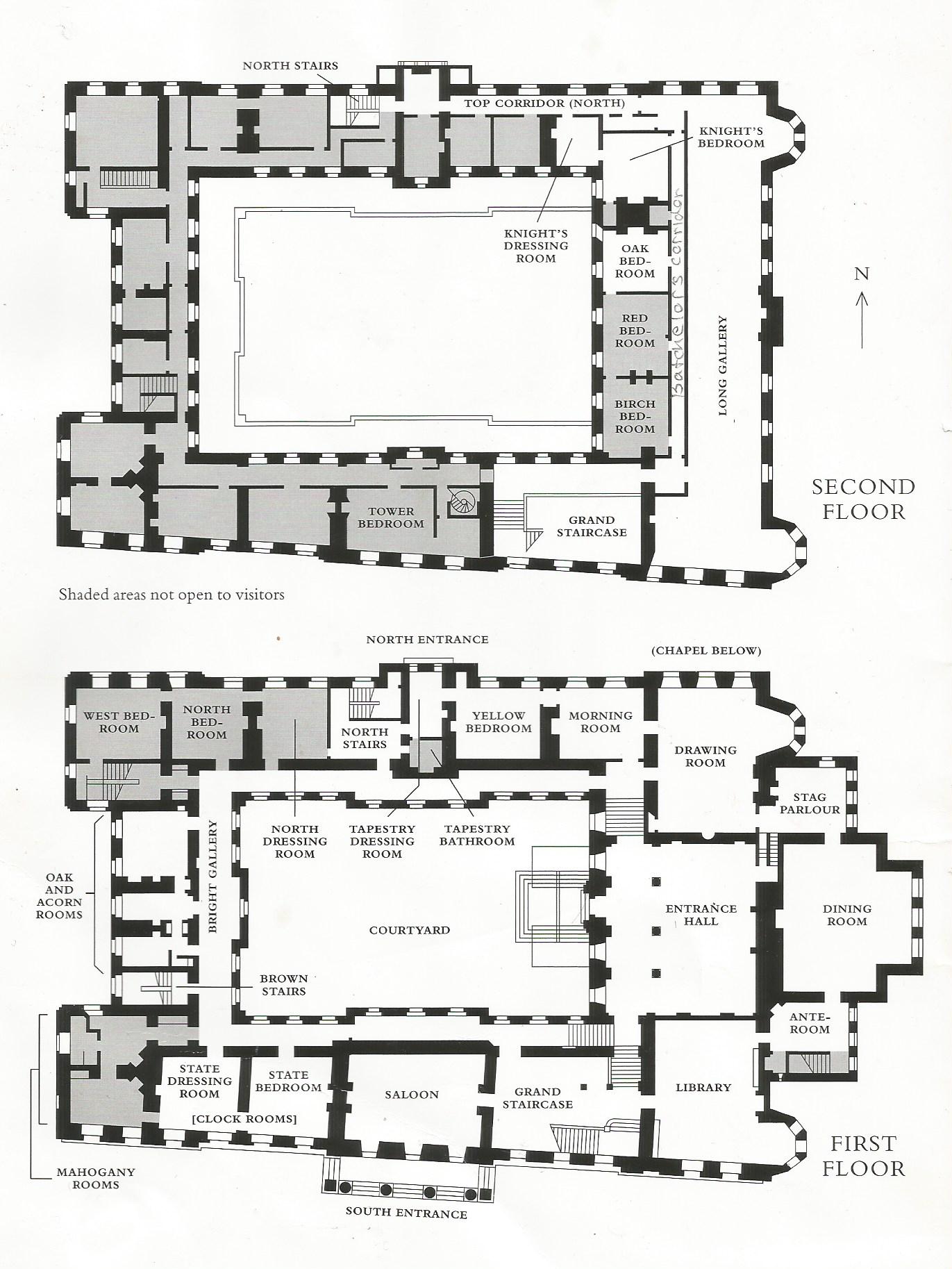 Lyme Park Architectural Floor Plans Castle Floor Plan Floor Plans