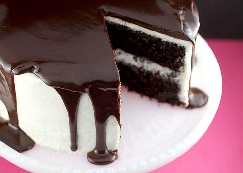 Apenas um bolo receita do bolo - da cobertura - da ganache
