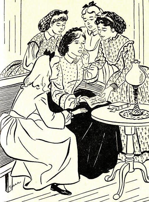 1951 little women louisa may alcott 1st ed dj sari illustrations