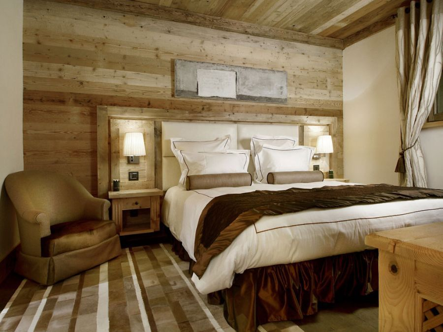 cabin style bedroom perfectly epitomize the courchevel spirit