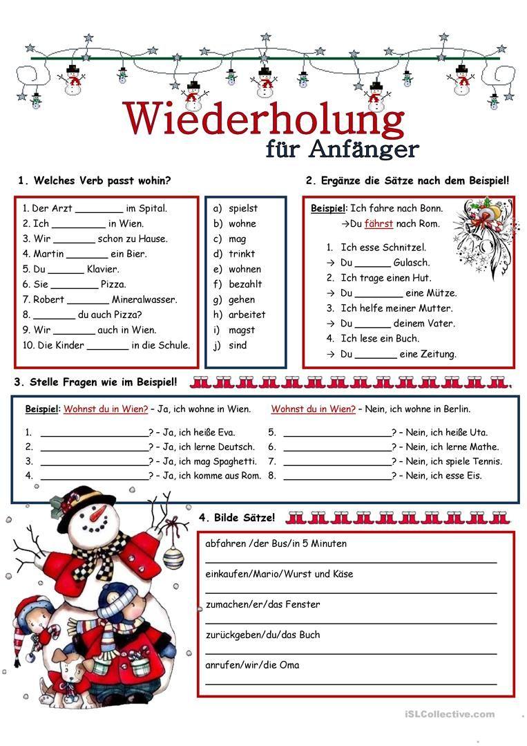 Wiederholung_7 | Worksheets