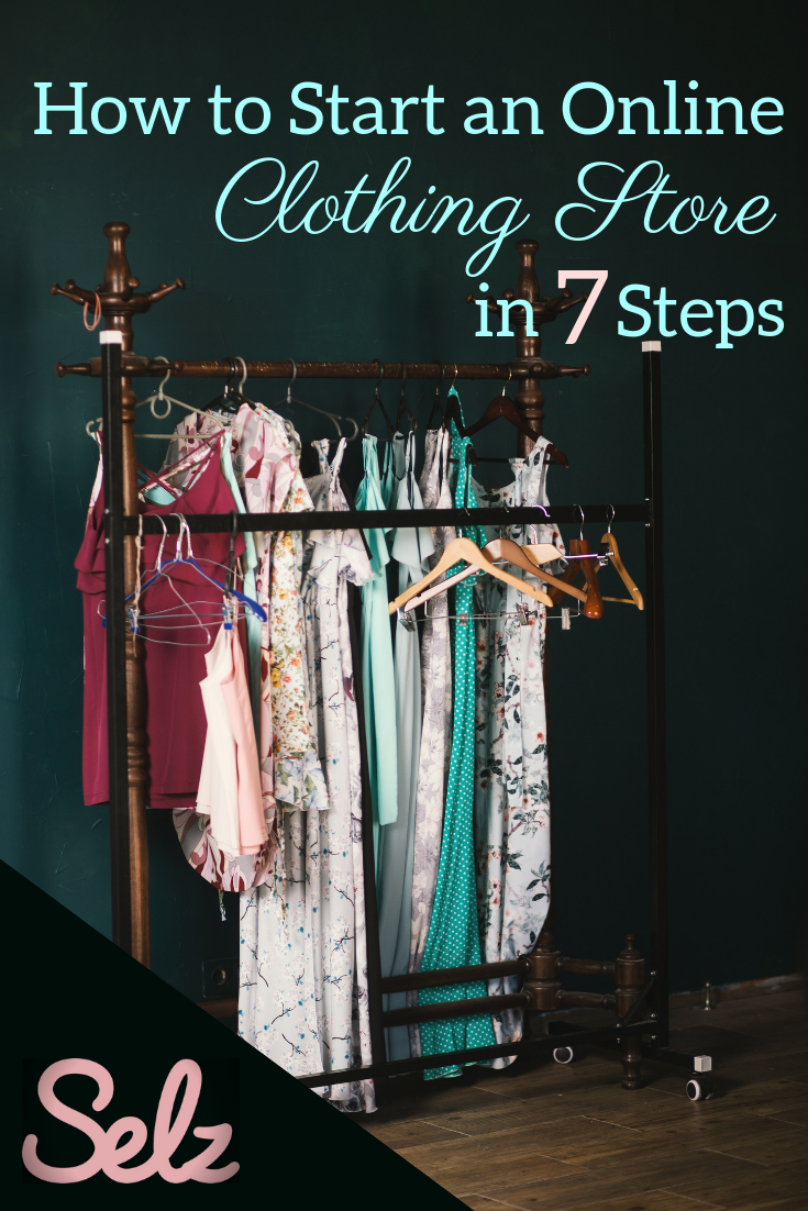 A Pinterest Graphic For How To Start An Online Clothing
