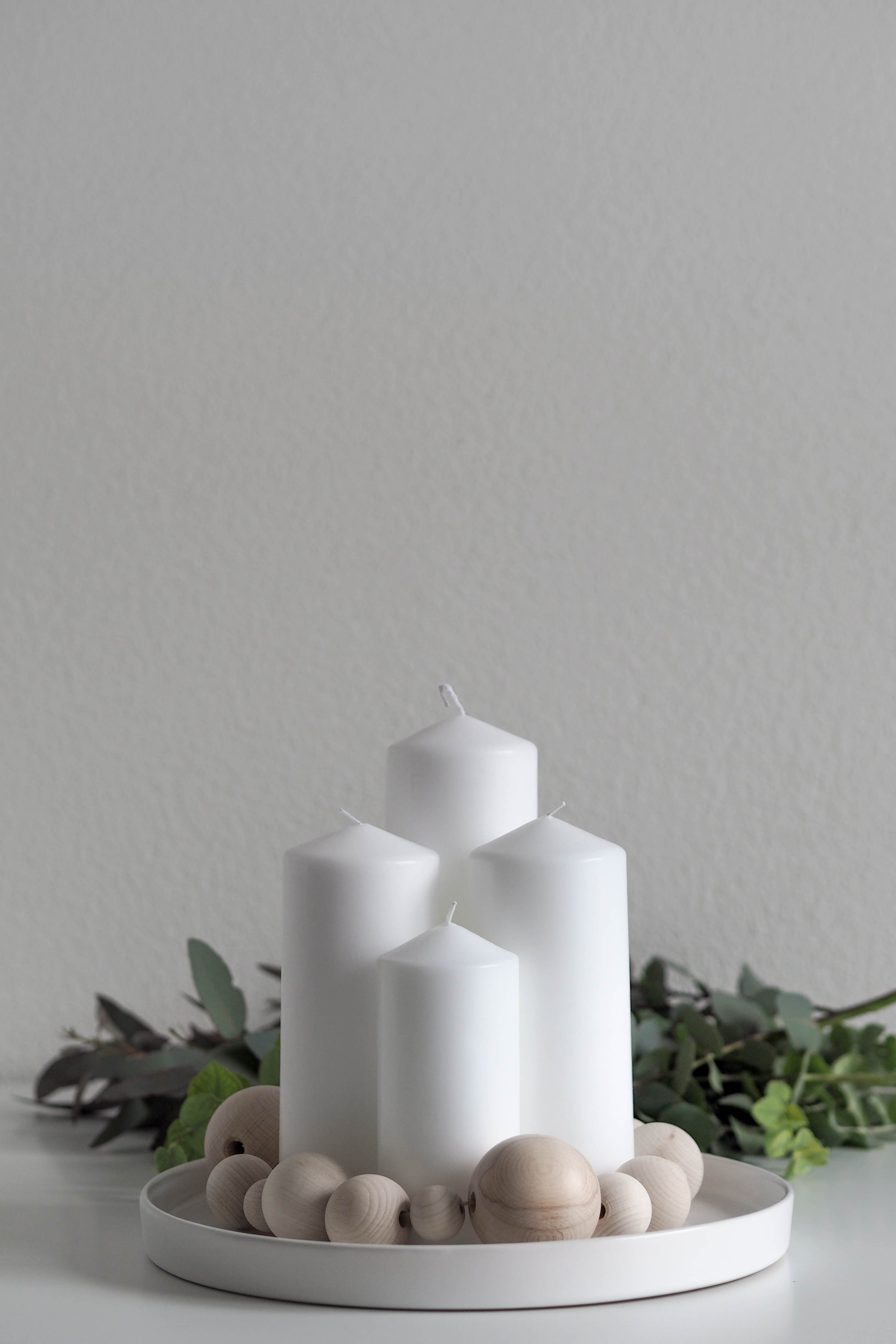 Photo of DIY wooden ball advent wreath: a simple last minute advent wreath in a minimalist …