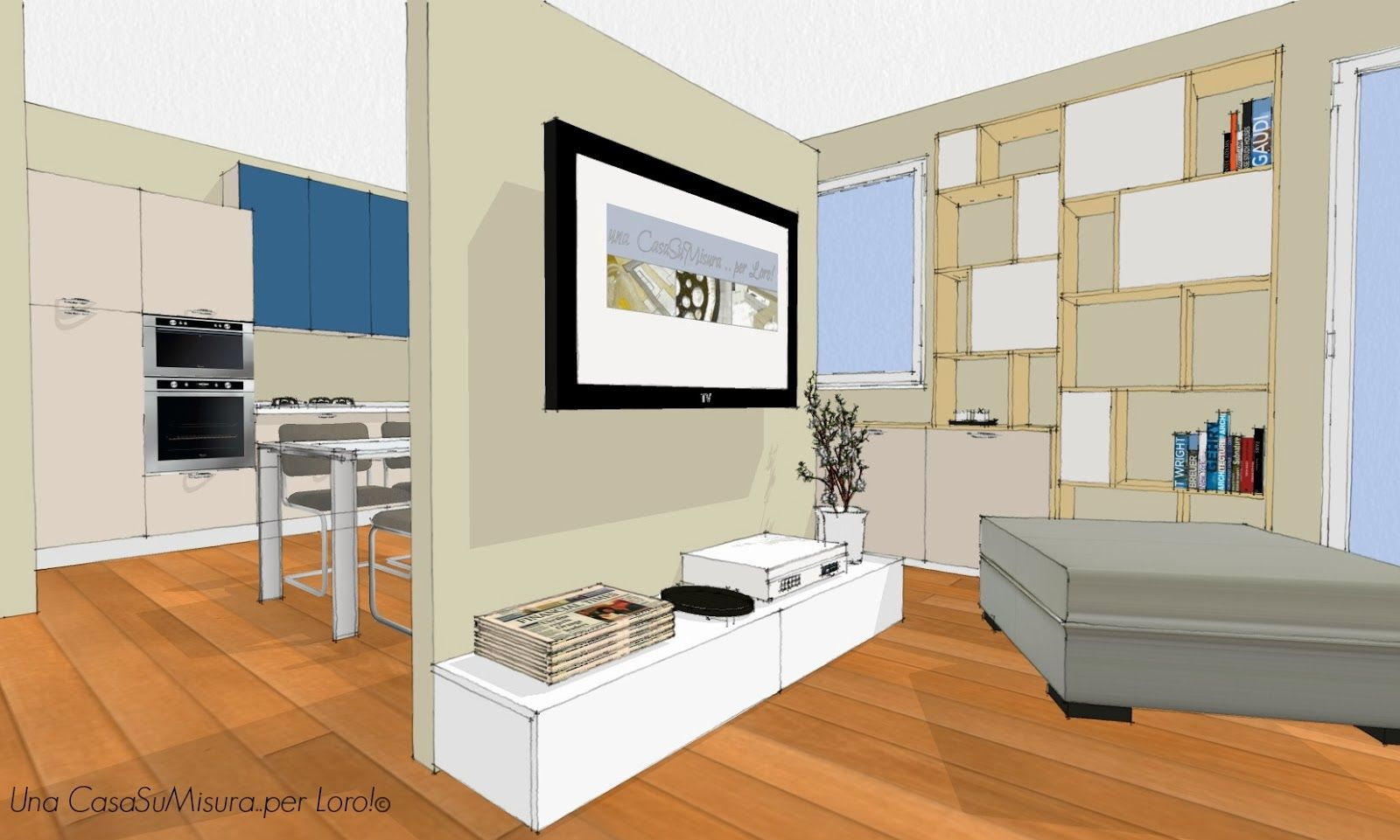 mobile divisorio cucina soggiorno - Cerca con Google | corten ...
