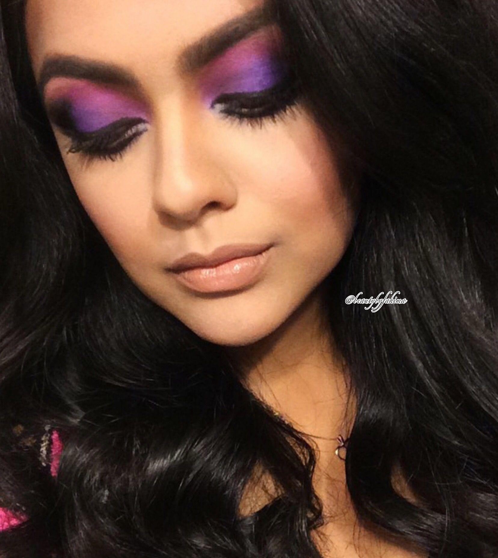 Came across an old pic love purple eye makeup looks mua