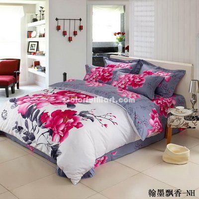 asian print bed linens