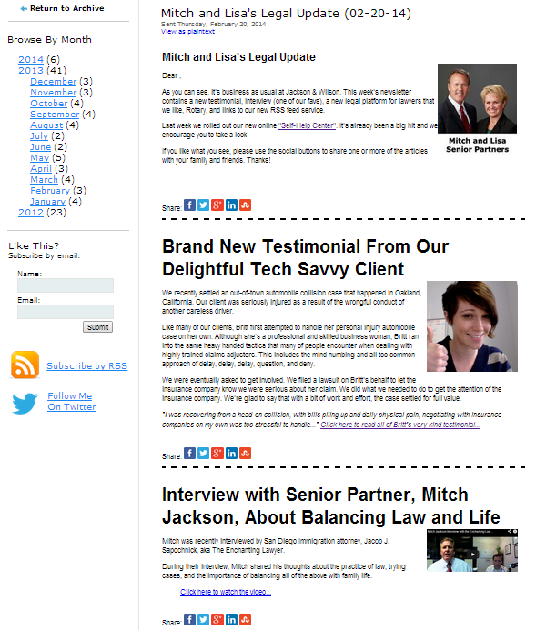 Legal News Update This Week S Email Newsletter This Is The Only