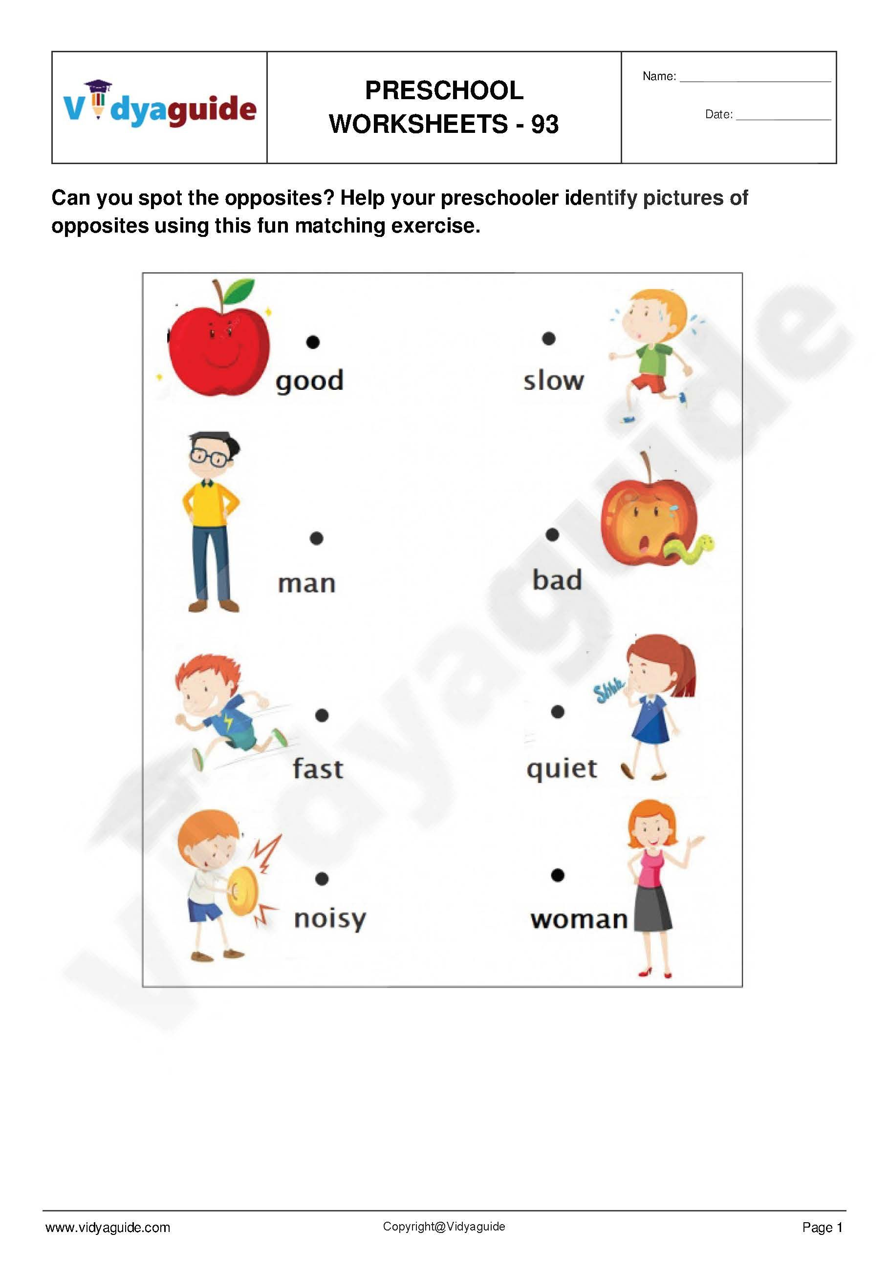 Pin On Free Preschool Worksheets