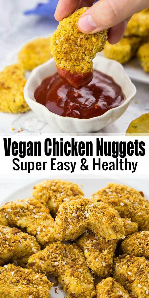 Si está buscando recetas veganas de comida reconfortante, estas nuggets de pollo veganos (un ...