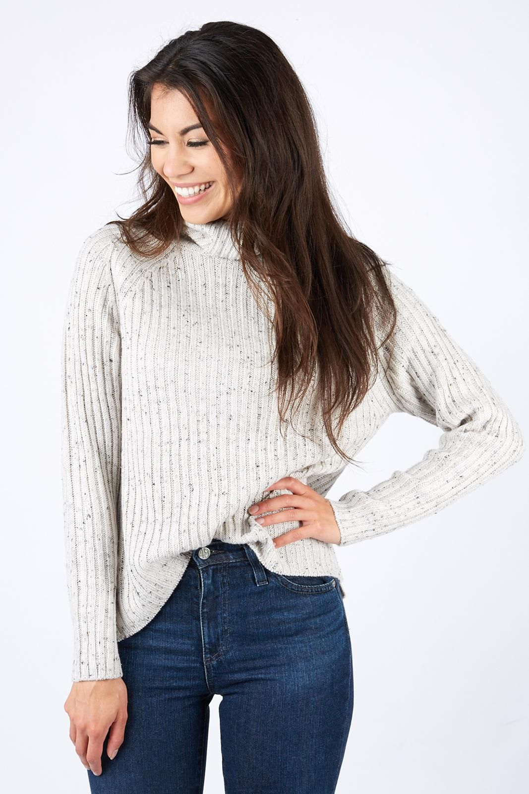 7d39bb4f8e416 Speckled Turtleneck Sweater by BRAEVE