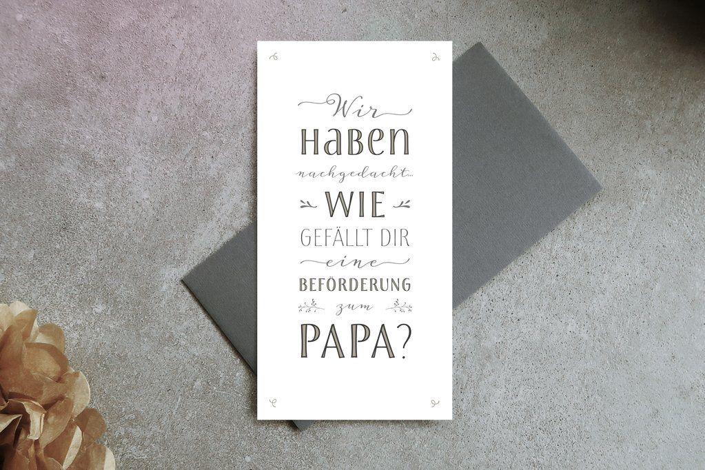 Du wirst Papa Kartenset | Schwangerschaft | Pinterest