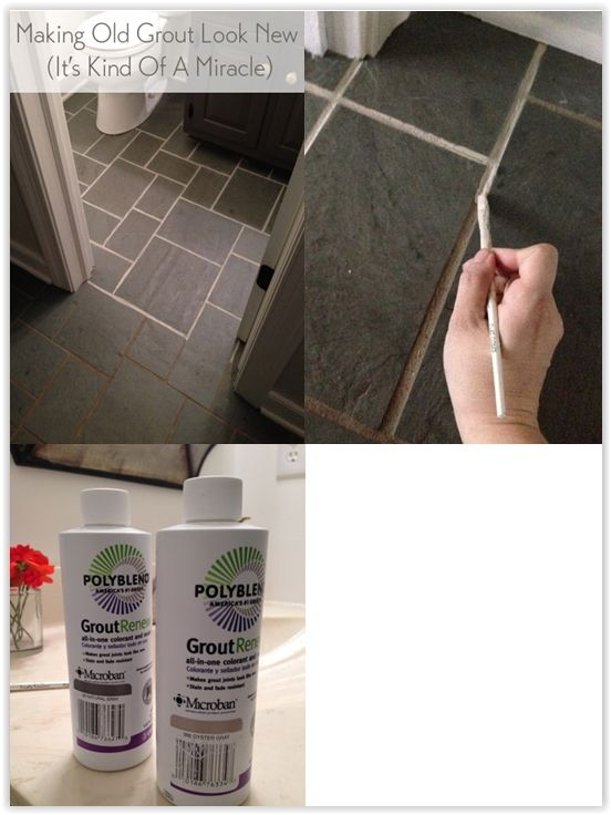 Making Old Discolored Grout Look Like New You Can Get This From Home Depot For 11 95 Use A Thin Craft Brush To Diy Flooring Diy Grout Painted Shower Tile