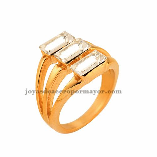 rhinestone stainless steel golden rings with price-SSRGG37926