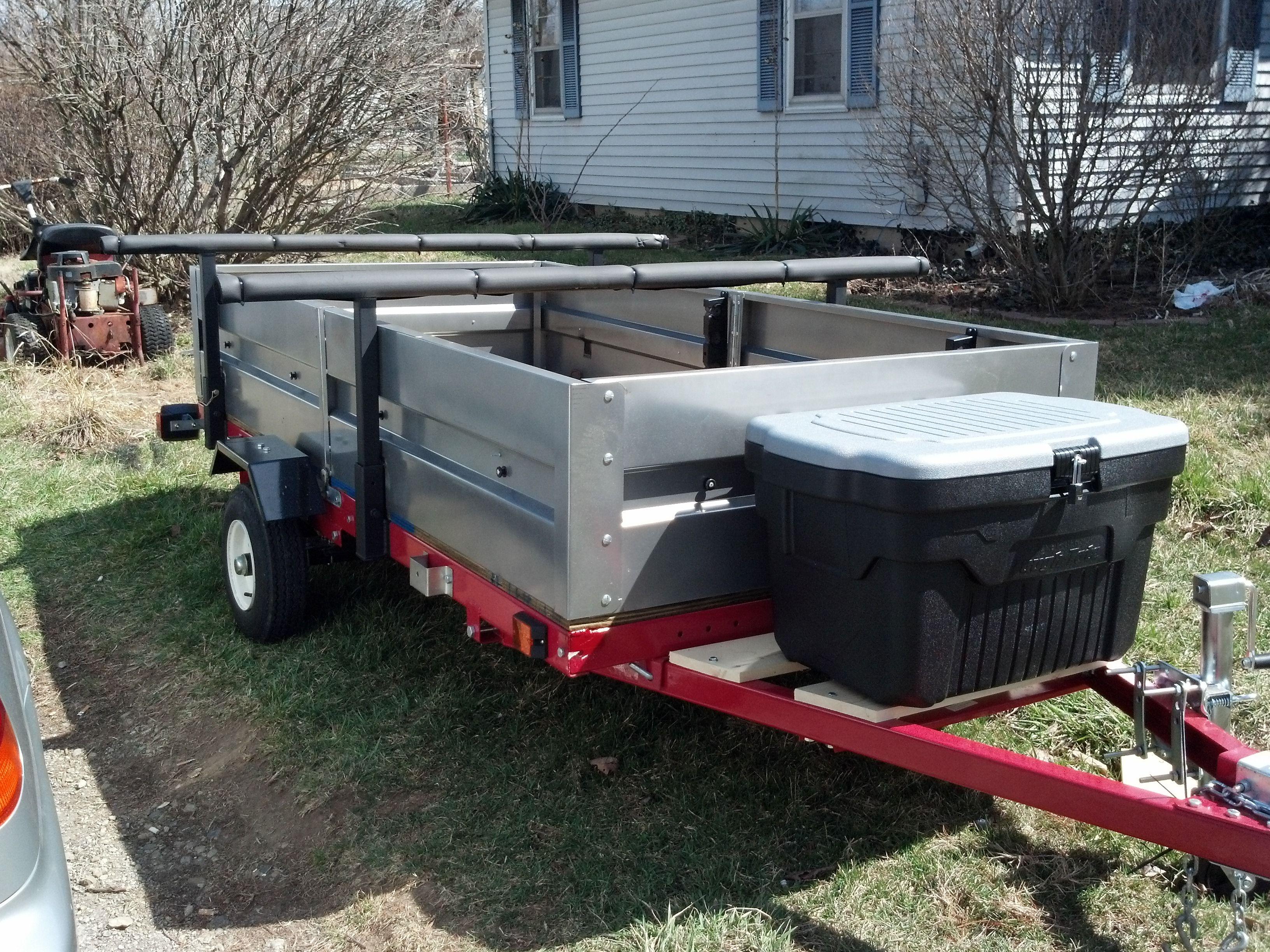 hacking a harbor freight trailer kit kayak edition geek fish