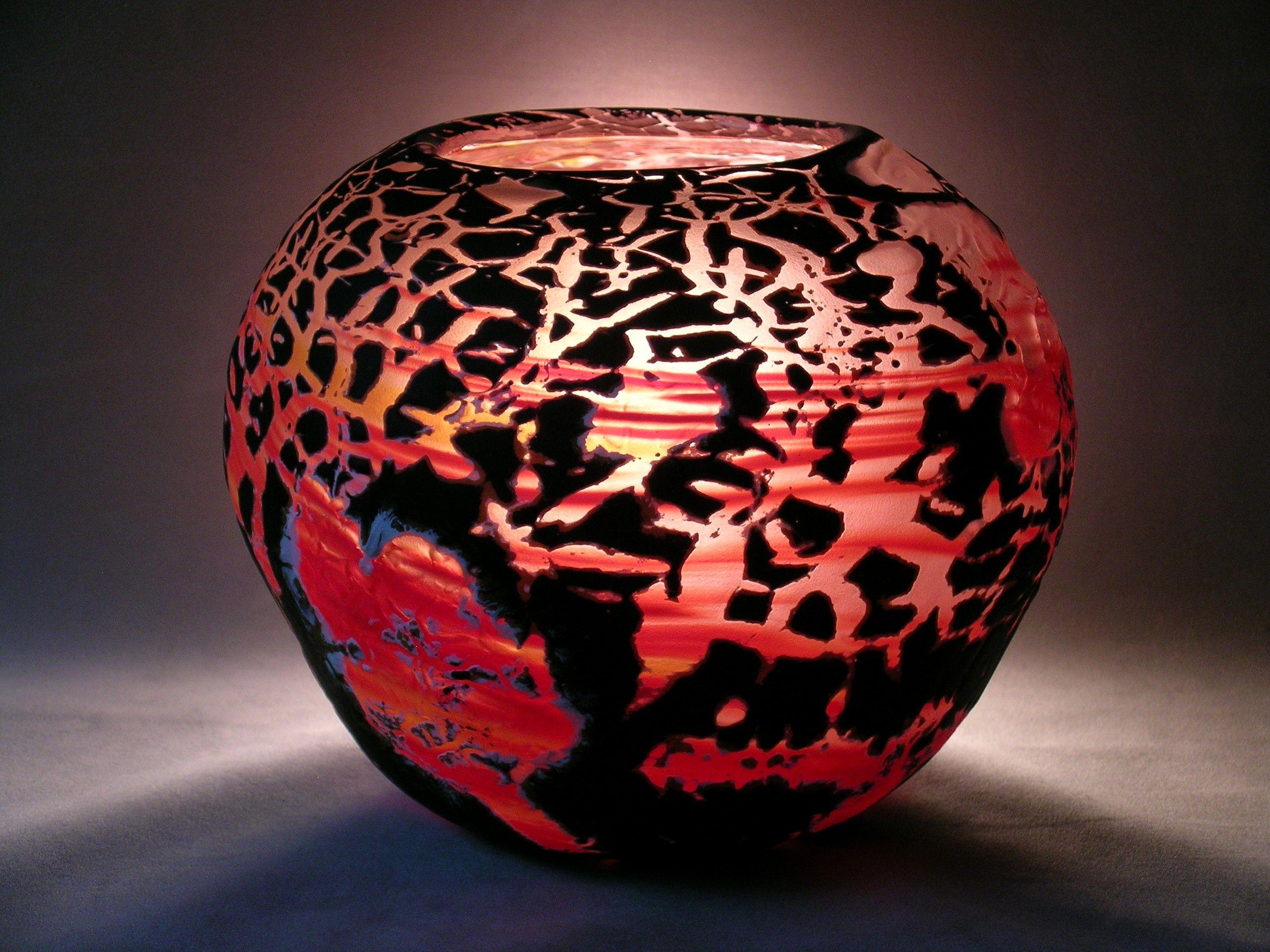 Crackle Bowl Glass art, Kickstarter campaign, Decor