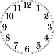 """photograph regarding Printable Clock Faces for Crafts called Znalezione obrazy dla zapytania TARCZE ZEGARÃ""""W ZEGARY"""