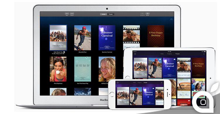 Apple rilascia laggiornamento per iMovie con lediting video 4K
