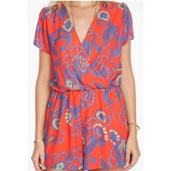 EVERLY brand romper Designer:  EVERLY.  Description:  WOVEN OVERLAP ROMPER   Material:  100% POLYESTER Everly Other