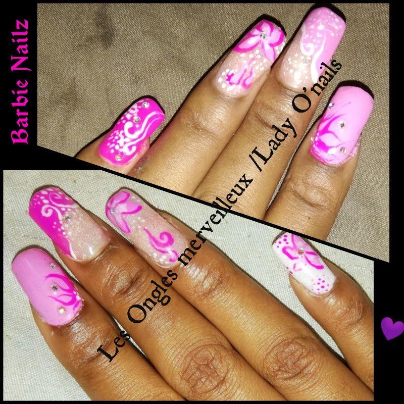 nail art /nail design /pink /barbienails /Les ongles merveilleux