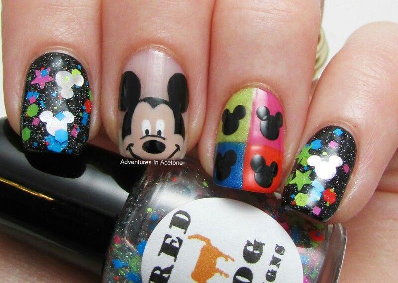 Mickey mouse nails   Nail Art   Pinterest   Diseños de uñas