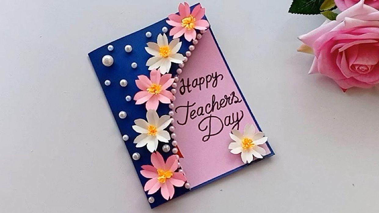 Handmade teachers day card teachersdaycard teachers