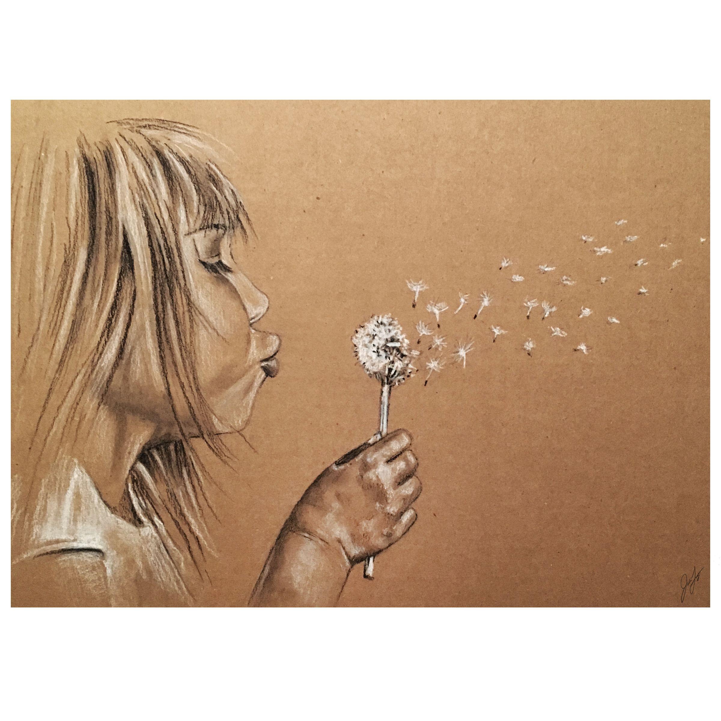 Картинки карандашом дуем на одуванчик