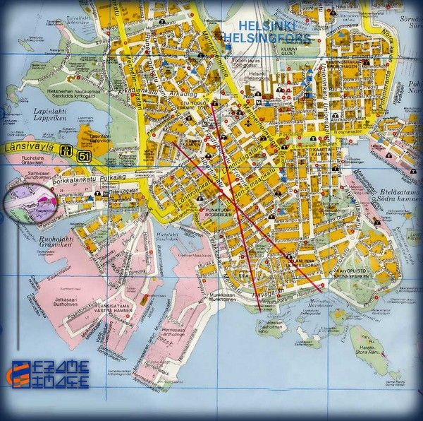 Helsinki Bus Tour Map Helsinki mappery Travel Pinterest