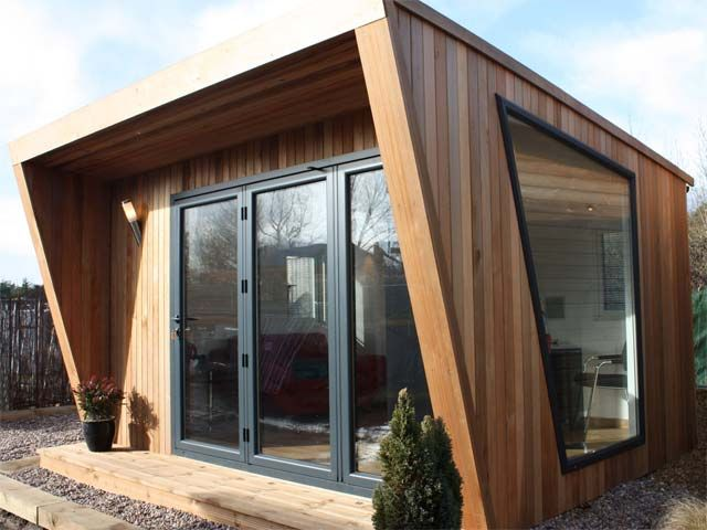 Garden Offices Photo Gallery Green Retreats Shed Office Backyard Office Modern Shed
