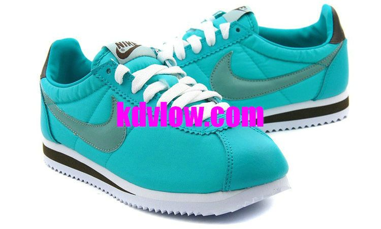 Discount Nike Classic Cortez Nylon Womens Tiffany Blue Calypso Blue 457226  303 For Sale Save up Off! Website with great deals on running shoes! b5e785977