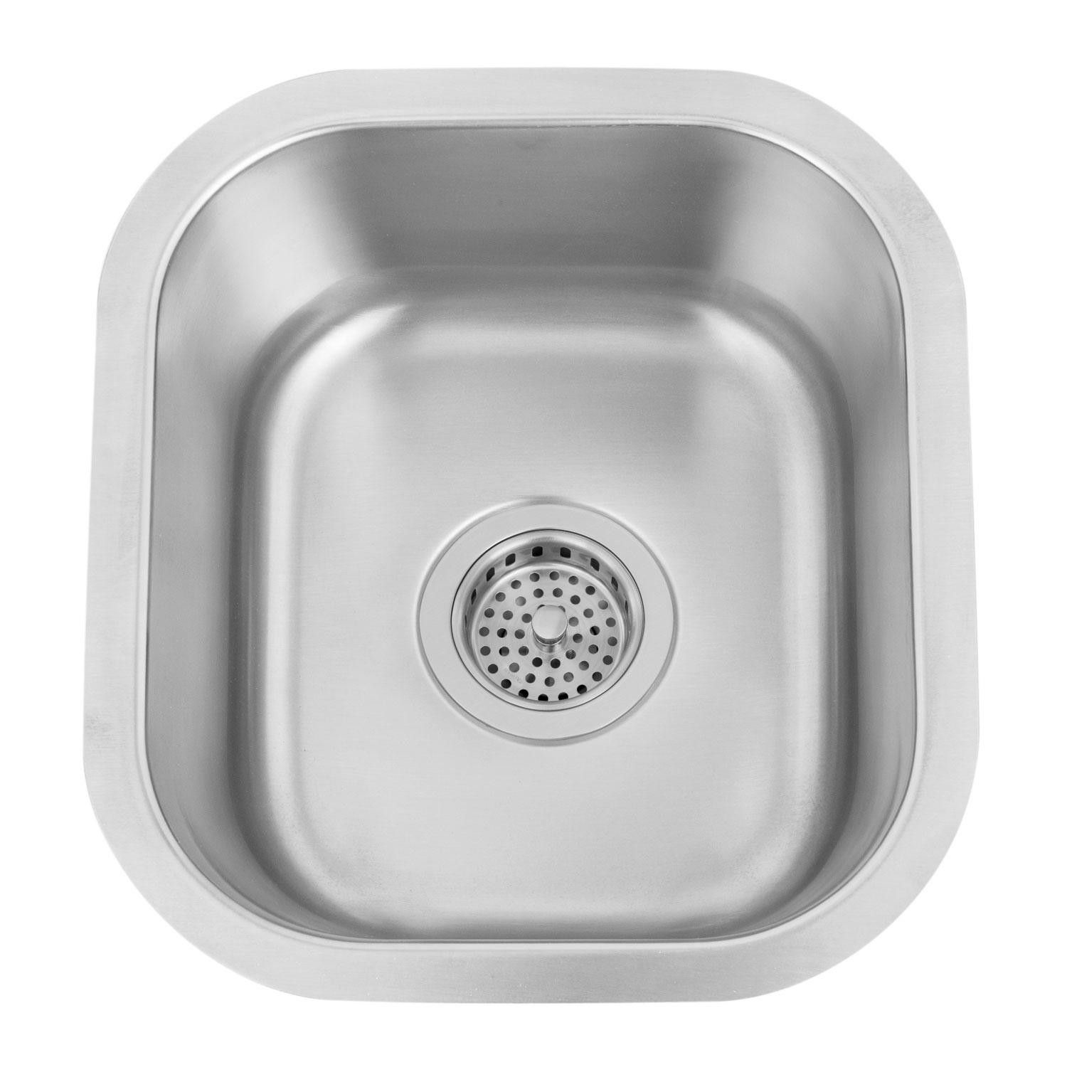 13 Infinite Small Square Stainless Steel Undermount Prep Sink