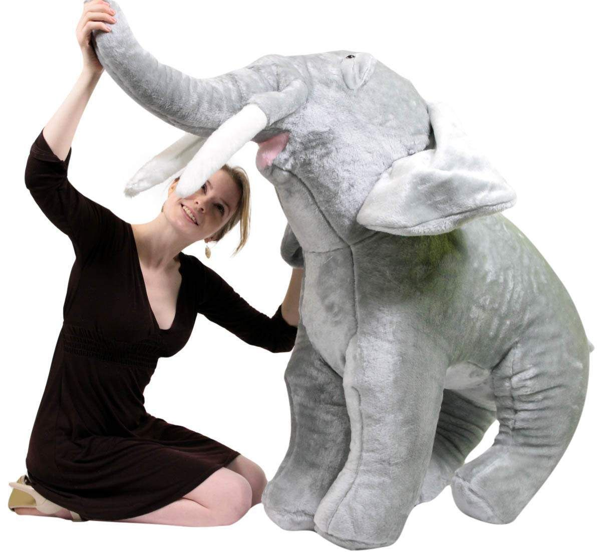 Big Plush Personalized Giant Teddy Bears and Custom Large Stuffed Animals - American Made Giant Stuffed Elephant 48 Inches Big Plush Animal Made in the USA America, $242.20 (https://www.bigplush.com/american-made-giant-stuffed-elephant-48-inches-big-plush-animal-made-in-the-usa-america/)
