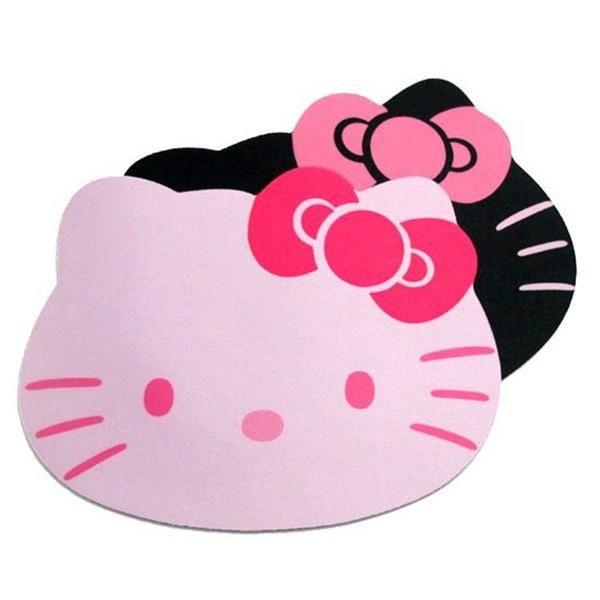 1PC Alfombrilla Raton Hello Kitty Mouse Pad Gaming Keyboard Laptop Computer Pink Black