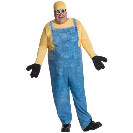 minions movie minion bob mens plus size adult halloween costume xl size small