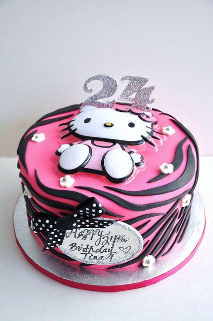 Hello Kitty Zebra Print Cake Zebra print cakes Zebra print and