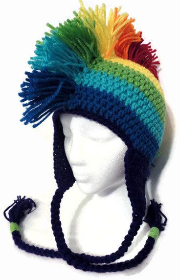 mohawk. I know three little kiddos I should make this for!! | Knit ...