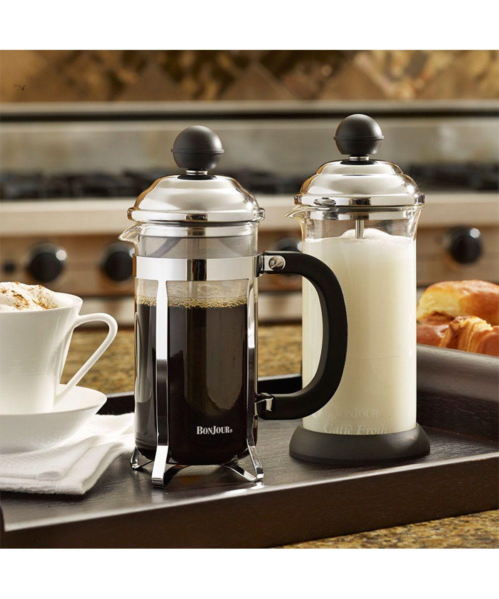 Bonjour bonjour coffee bijoux french press milk frother