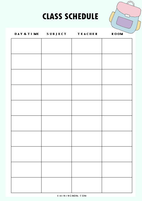 40  free student planner printables for back