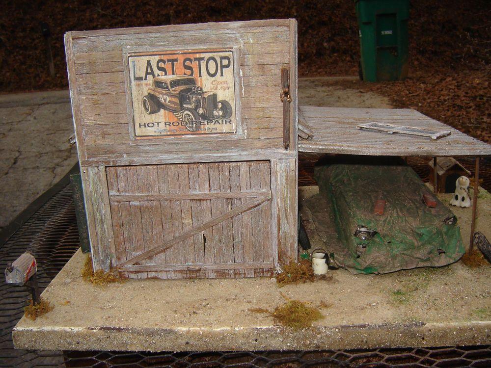 1 24 1 25 Barn Garage Diorama For Sale On Ebay: Model Car Diorama 1/25 Junkyard 59 Ford Lighted Speed Shop