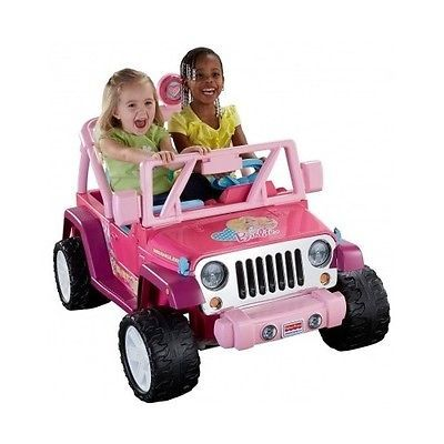 Kids Barbie Jeep Wrangler Car Ride On Toy 2 Seater Battery Wheels Electric