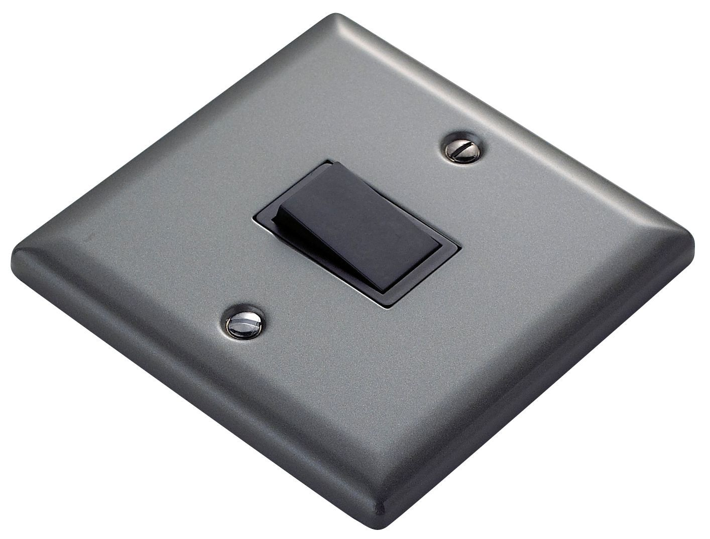 Volex 10A 1-Way Single Pewter Effect Light Switch | B&q ... on light switch blue, light switch terminals, light dimmer switch, light switch insulation, light switch connections, light switch repair, light switch operation, light switch paint, light switch socket, light switches, light switch breakers, light switch grounding, light switch three, light switch painting, light switch parts, light switch interior, light bulb, light switch installation, light switch lamps, light switch electrical,