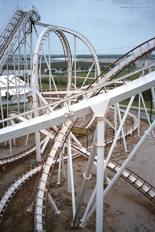 Batman The Escape Roller Coaster At Six Flags Astroworld Roller