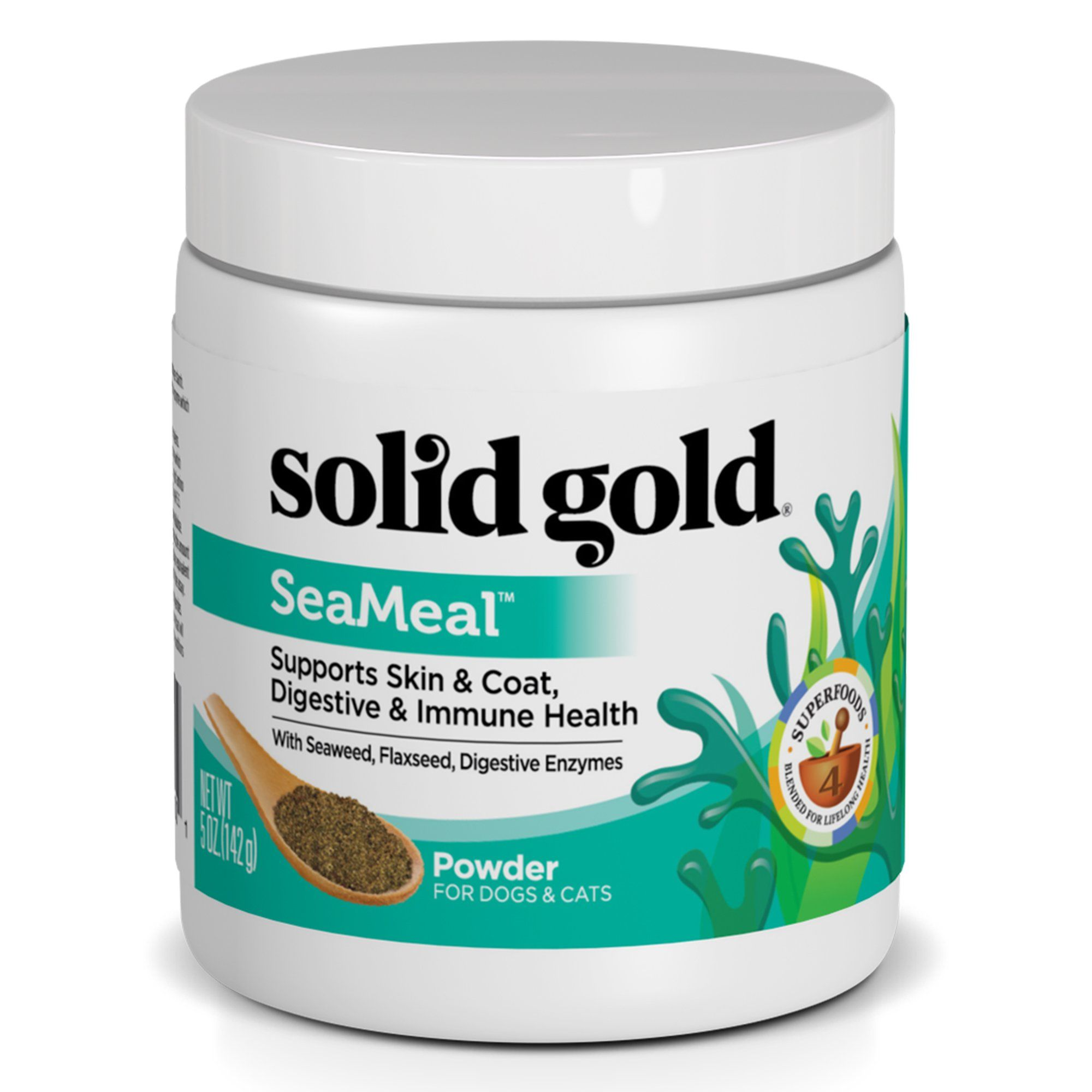 Solid Gold SeaMeal Powder for Skin & Coat, Digestive