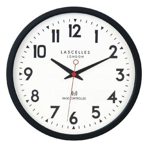 Roger Lascelles Radio Controlled Wall Clock Black Roger Https Www Amazon Co Uk Dp B009f98590 Ref Cm Sw R Pi Dp Muzaxbsqkrk7 Retro Clock Clock Will Smith