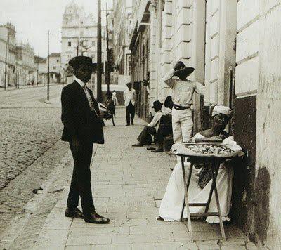 Ladeira de São Bento. 1909.  Foto de Livia Sodre.