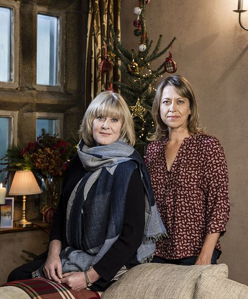 sarah lancashire and nicola walker as caroline and gillian in the last tango in halifax christmas special 2016