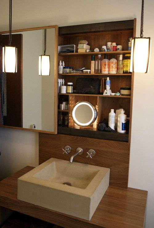 Hidden Storage Idea Behind The Sliding Mirror Bathroom Cabinetsbathroom