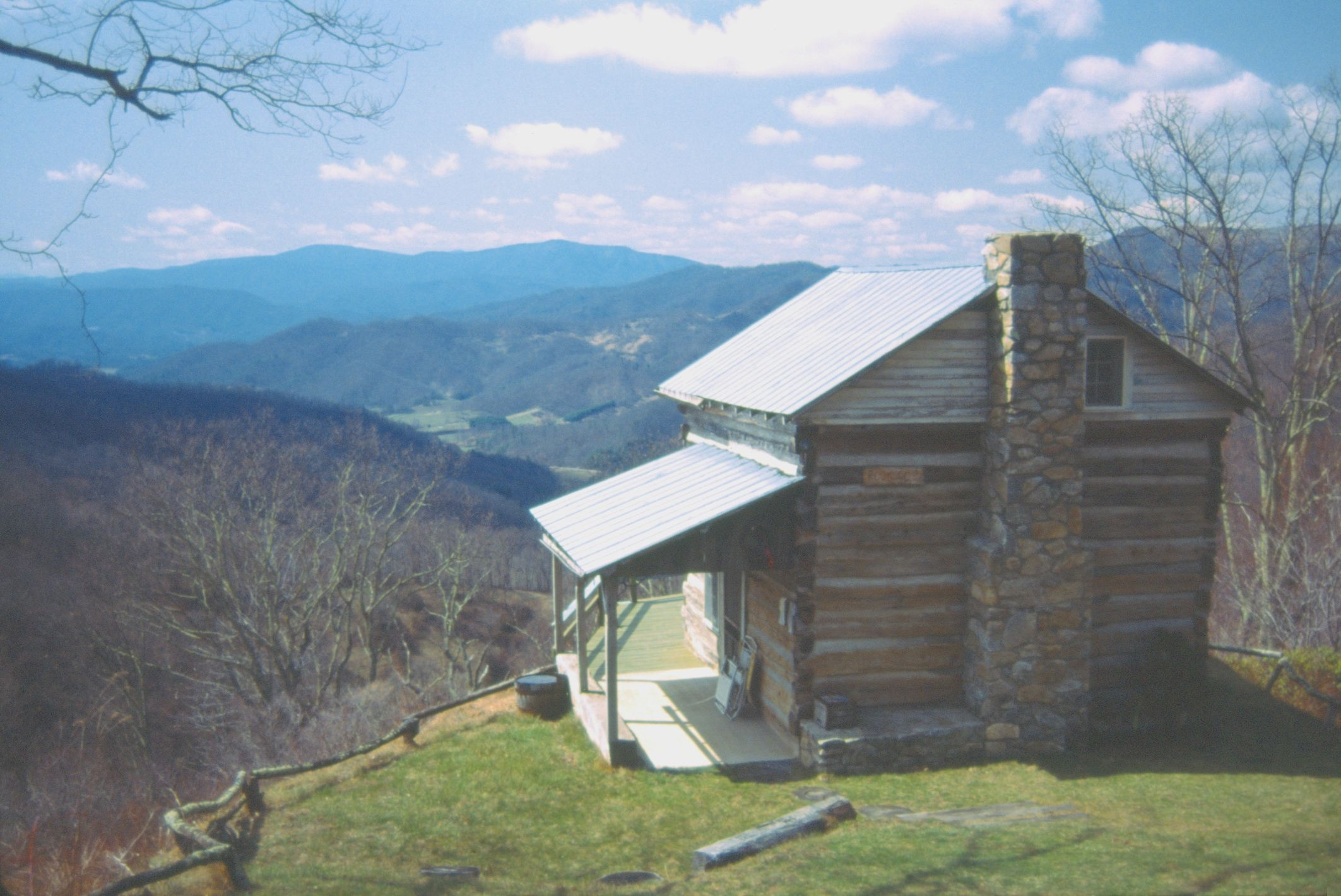 Appalachian Girl  Near The Ridge Separating Buncombe And Haywood Counties  In Western North Carolina. This Old Cabin Has A Commanding View Of The  Central ...