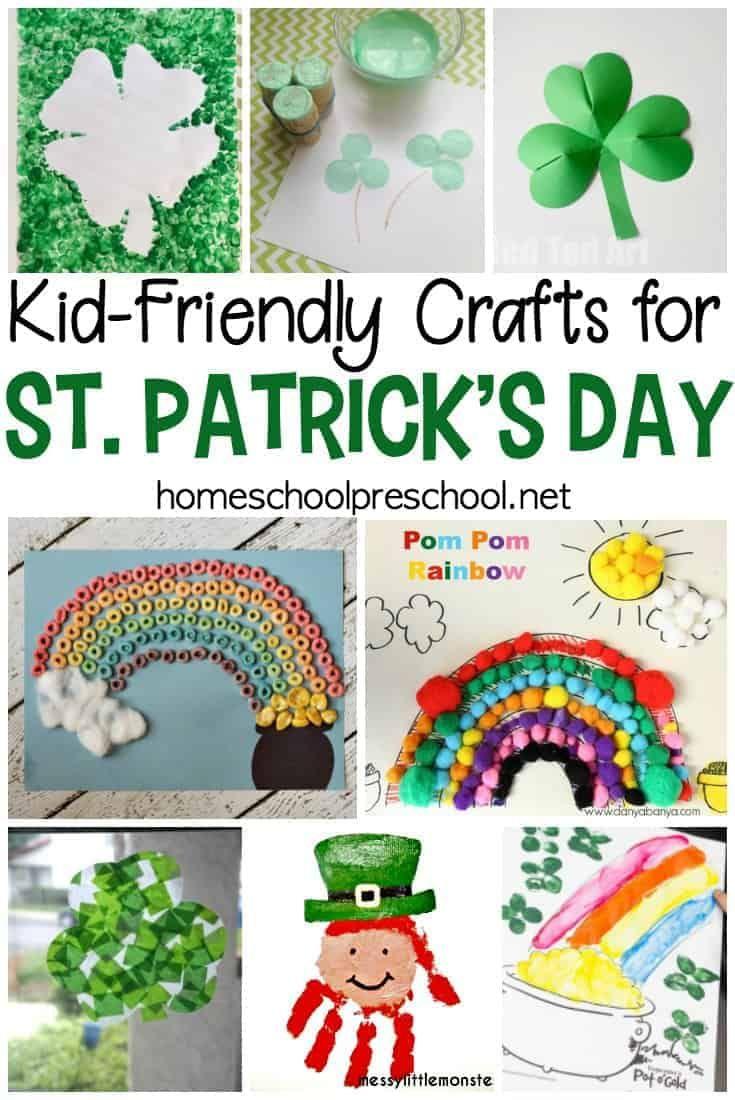 Easy st patricks day kid crafts st patricks day crafts