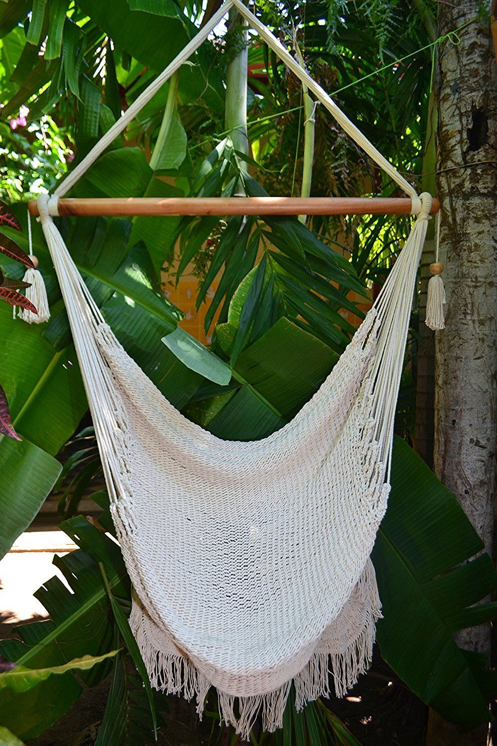 Handmade Hanging Rope Hammock Chair All Natural Indoor or Outdoor